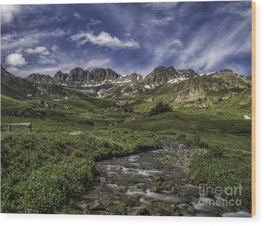 American Basin Trail Head Wood Print