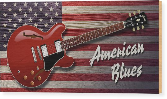 American Blues 335 Wood Print