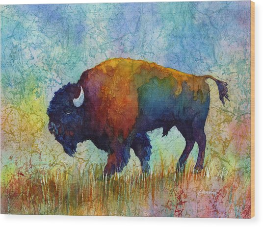 American Buffalo 5 Wood Print