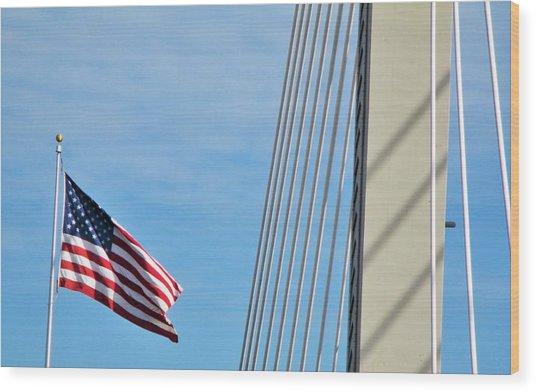 American Afternoon Wood Print