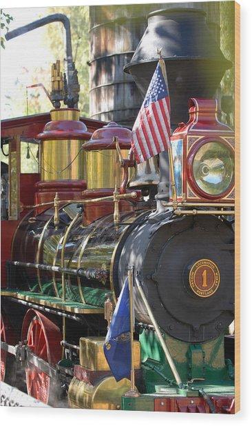 American Dream Train Wood Print by Curtis Gibson
