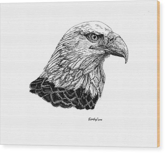 American Eagle Wood Print by Cynthia  Lanka