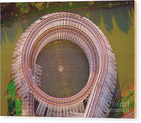 American Eagle Roller Coaster  Wood Print