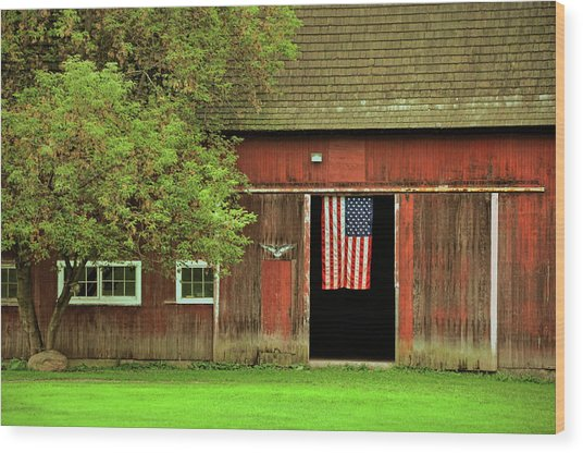 American Farm Wood Print by JAMART Photography