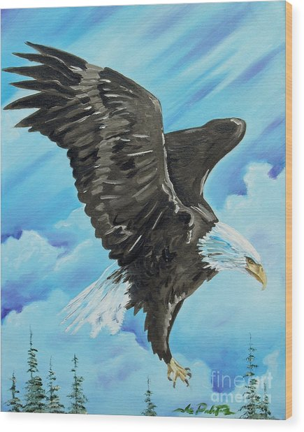 American Flight Wood Print by Joseph Palotas
