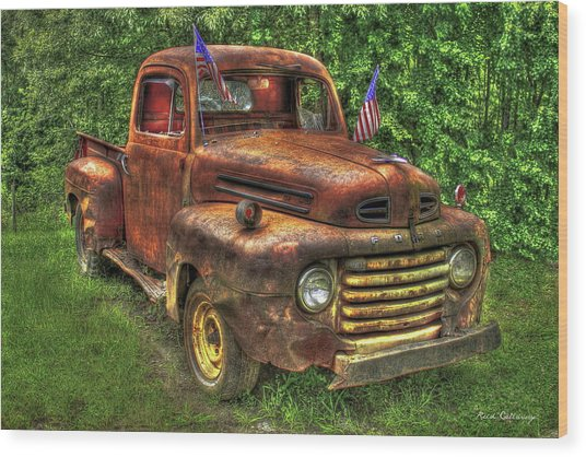 American Ford 1950 F-1 Ford Pickup Truck Art Wood Print