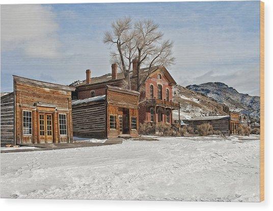 American Ghost Town Wood Print
