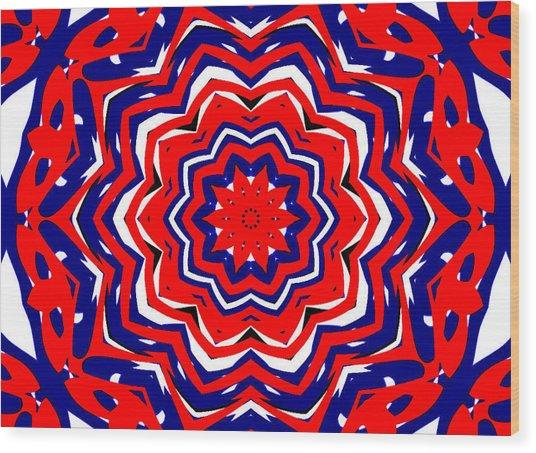 Kaleidoscope 5555 Wood Print