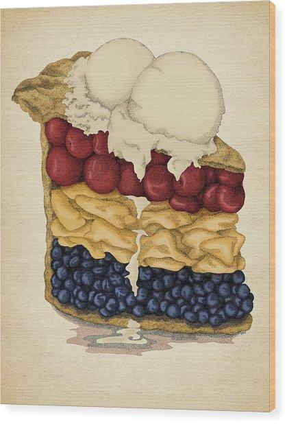 American Pie Wood Print