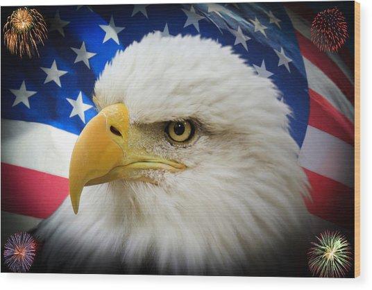 American Pride Wood Print