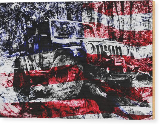 American Rock Crawler Wood Print