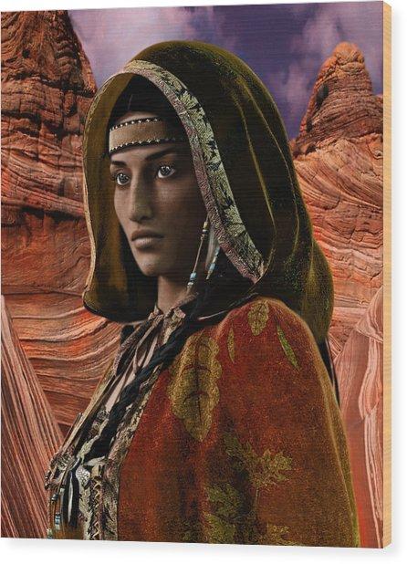 American Vision Saint Kateri Tekakwitha Wood Print