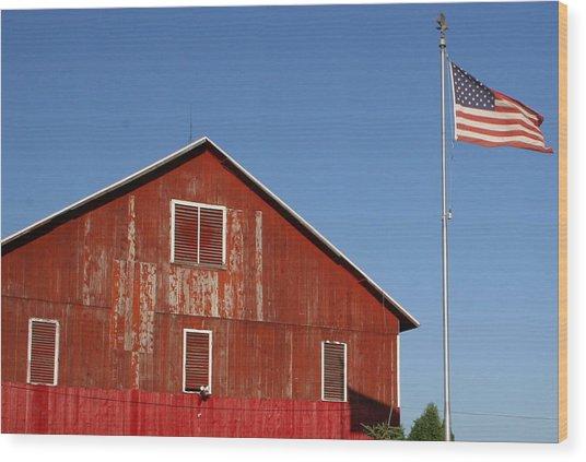Americana Wood Print by Robert Babler