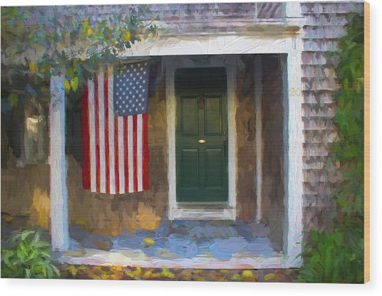Americana Series 14 Wood Print