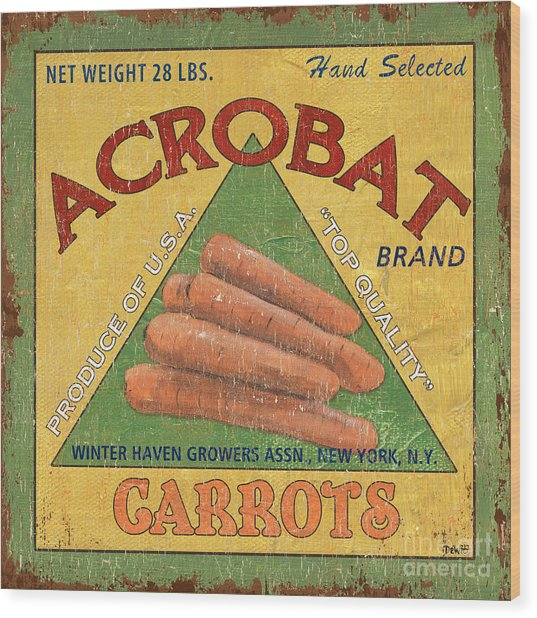 Americana Vegetables 2 Wood Print