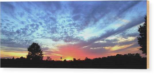 City On A Hill - Americus, Ga Sunset Wood Print