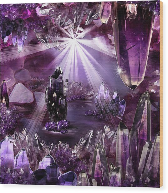 Amethyst Dreams Wood Print