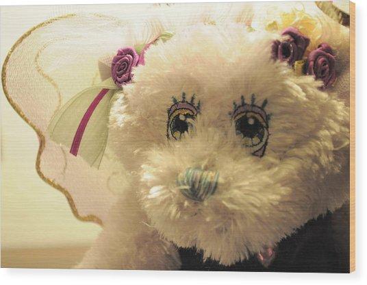 Amethyst Fairy Bear Wood Print