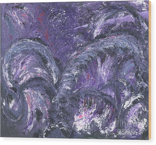 Amethyst Is The Color Of Your Energy Wood Print