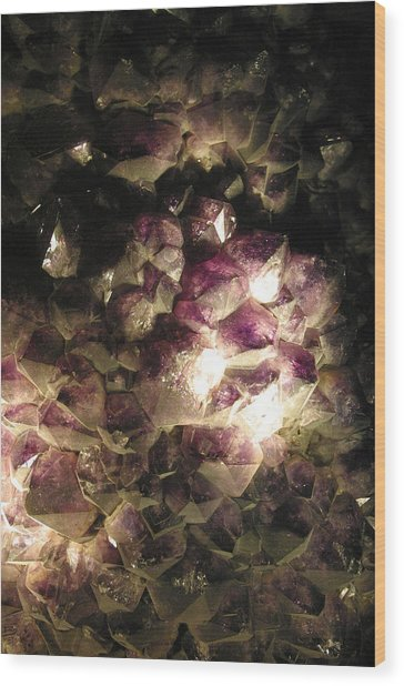 Amethyst Wood Print by Jez C Self