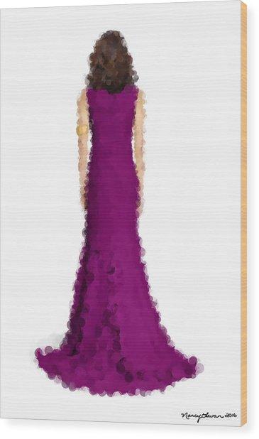 Wood Print featuring the digital art Amethyst by Nancy Levan