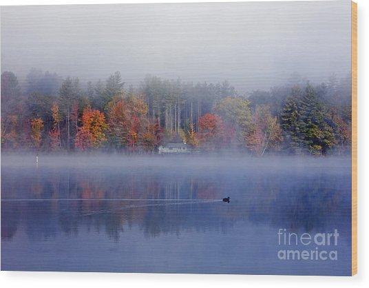 Amherst Lake Vt Wood Print