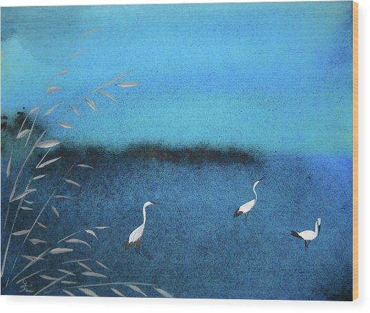 Amidst  The Rain And Gloom Wood Print