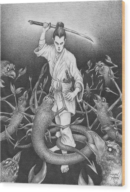 Amikiri Wood Print