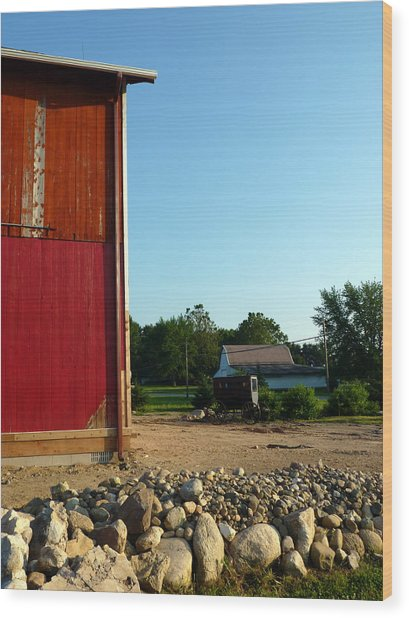 Amish Country Wood Print by Robert Babler