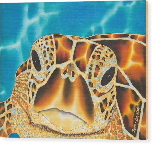 Amitie Sea Turtle Wood Print
