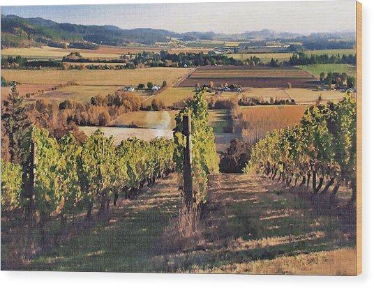 Amity Vineyard And Farmlands Wood Print