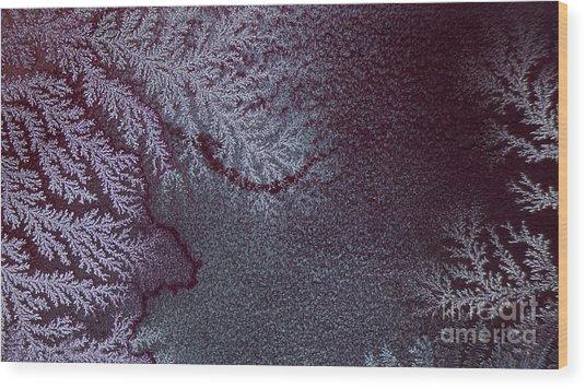 Ammonium Chloride Crystal Wood Print