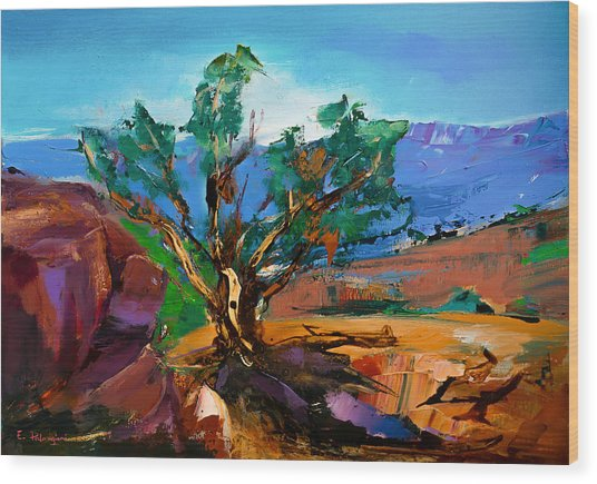Among The Red Rocks - Sedona Wood Print