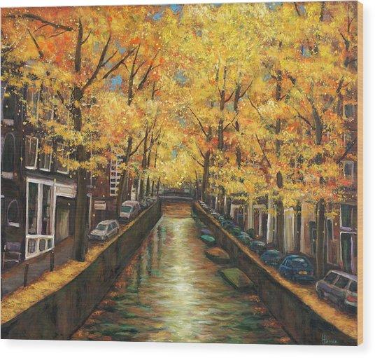 Amsterdam Autumn Wood Print by Johnathan Harris