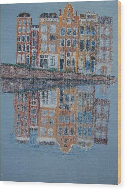 Amsterdam Wood Print by Marina Garrison
