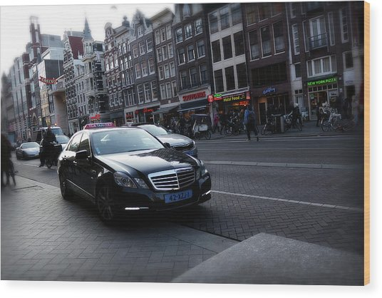 Wood Print featuring the photograph Amsterdam Traffic 3 by Scott Hovind