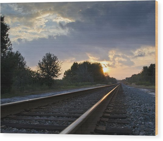 Amtrak Railroad System Wood Print