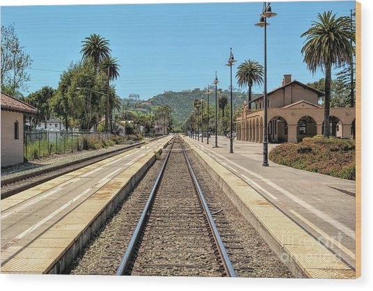 Amtrak Station, Santa Barbara, California Wood Print