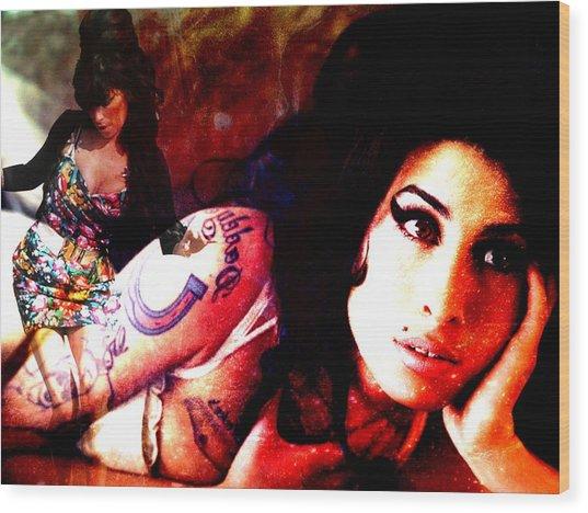 Amy Amy Amy Wood Print by Ankeeta Bansal