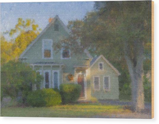Amy's House Wood Print