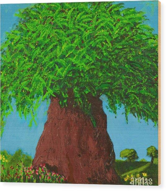 Amy's Tree Wood Print