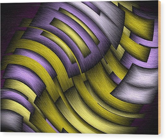 An Abstract Slope Wood Print by Terry Mulligan