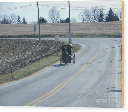 An Afternoon Buggy Ride Wood Print