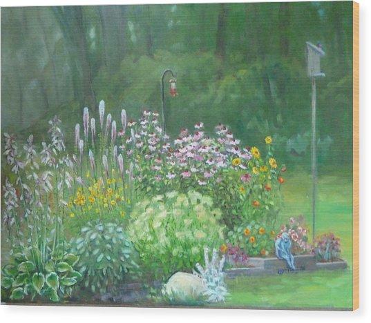An Angel In My Garden Wood Print