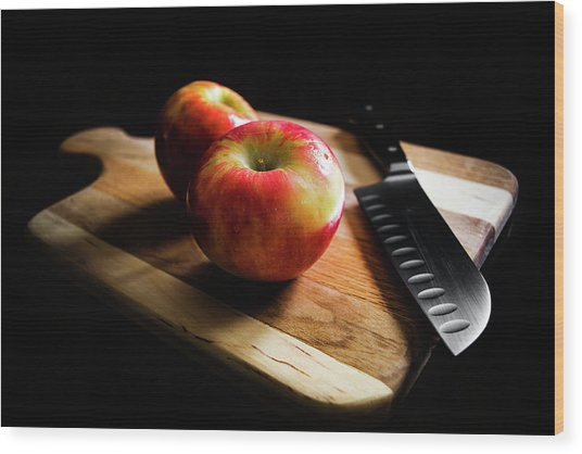 An Apple Or Two Wood Print