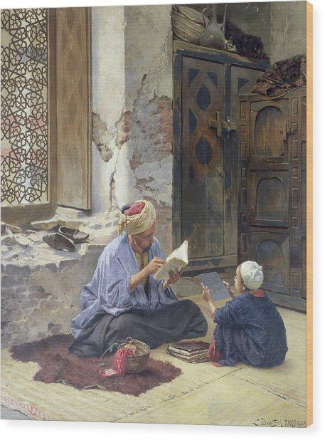 An Arab Schoolmaster Wood Print