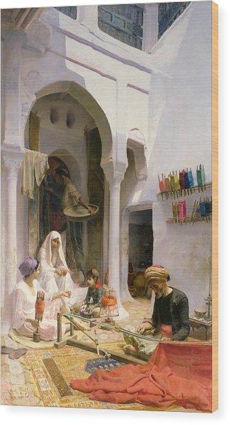 An Arab Weaver Wood Print