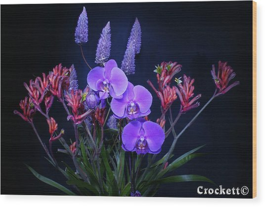 An Aussie Flower Arrangement Wood Print