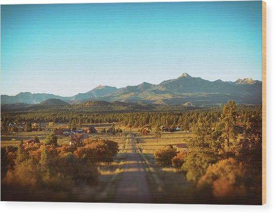 An Autumn Evening In Pagosa Meadows Wood Print