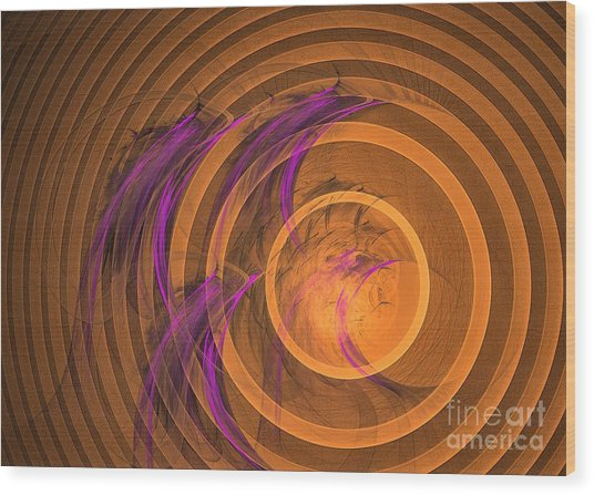 Wood Print featuring the digital art An Echo From The Past - Abstract Art by Sipo Liimatainen